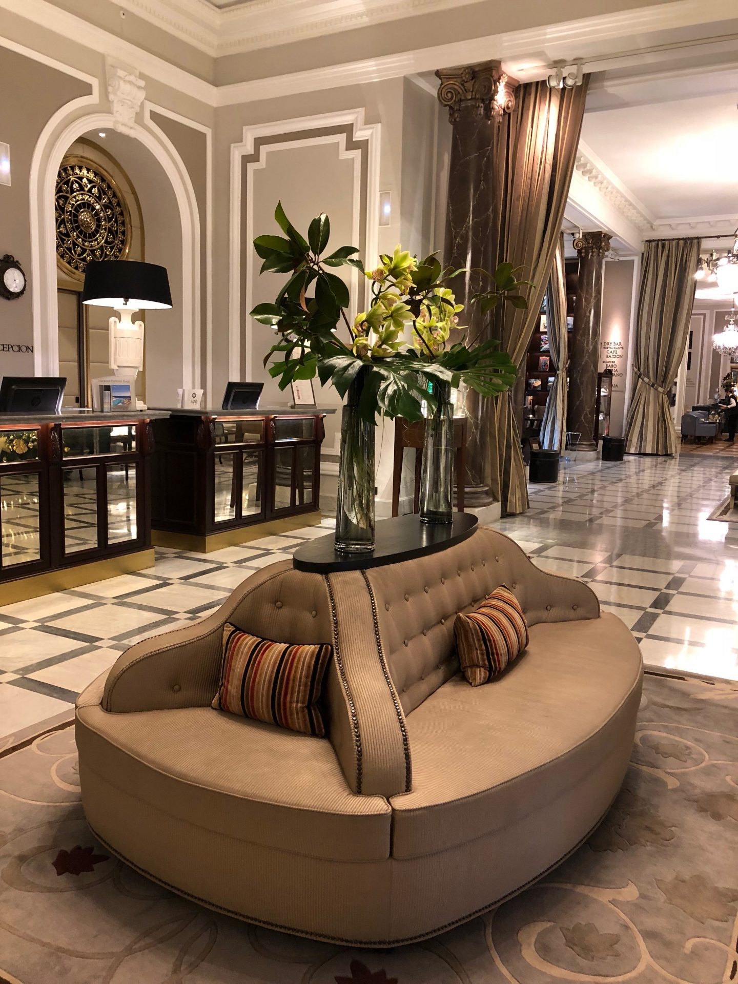 entree hotel Maria Christina san Sebastian Saint Sebastien