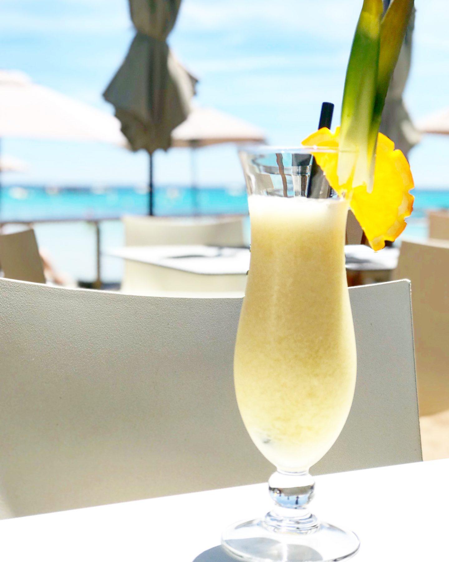 Plage Santa Giulia le bar de la plage