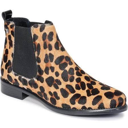 bottines imprimé léopard