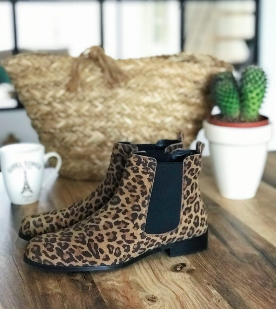 bottines léopard