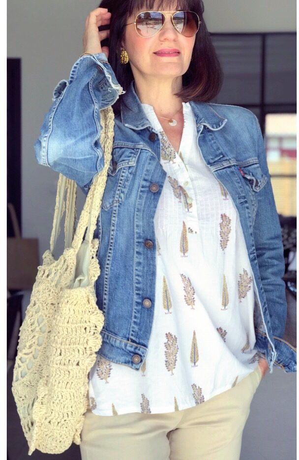 veste en jean style bohème