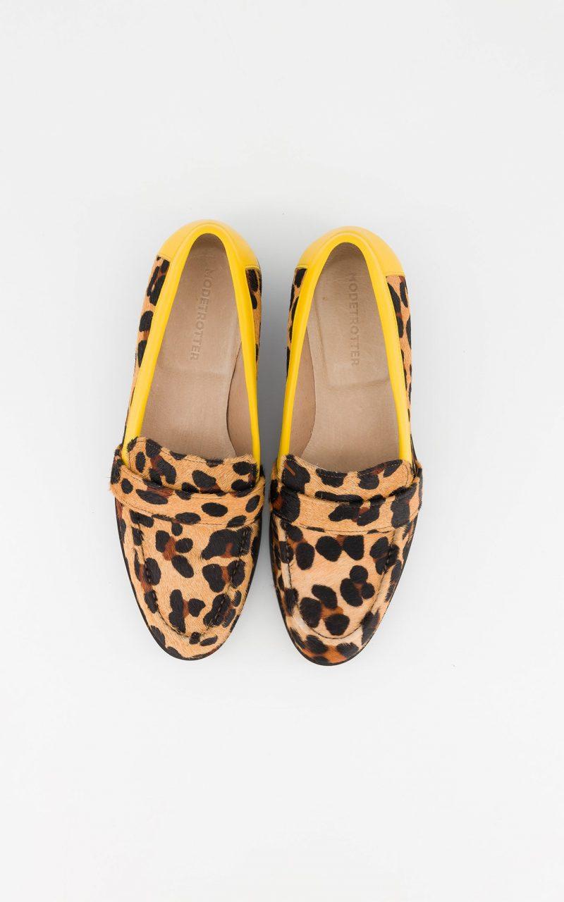 mocassins imprimé léopard