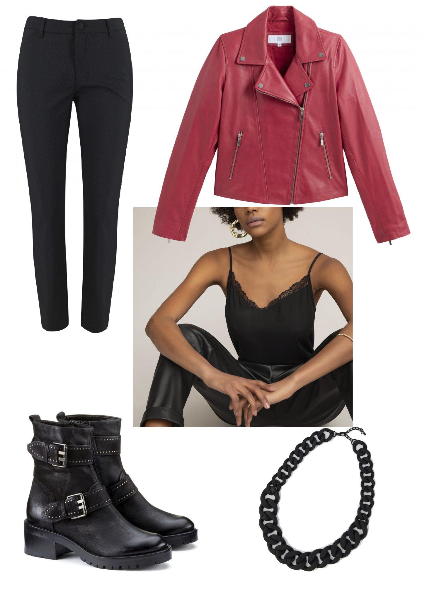 idées de looks avec un pantalon noir