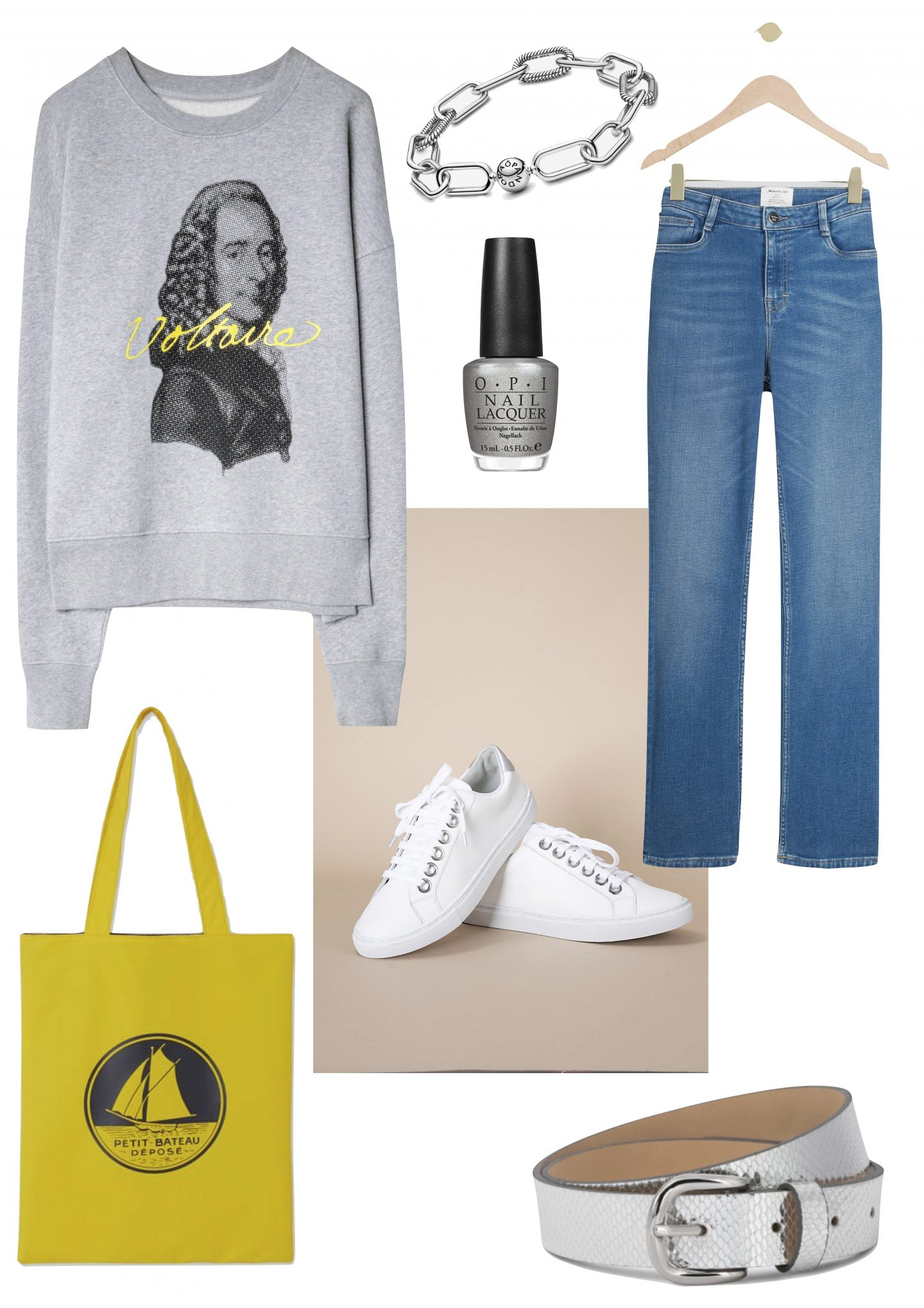 look avec baskets blanches
