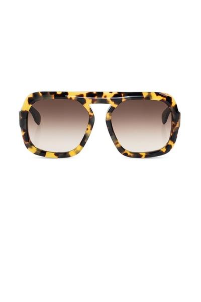 lunettes de soleil imprimé léopard