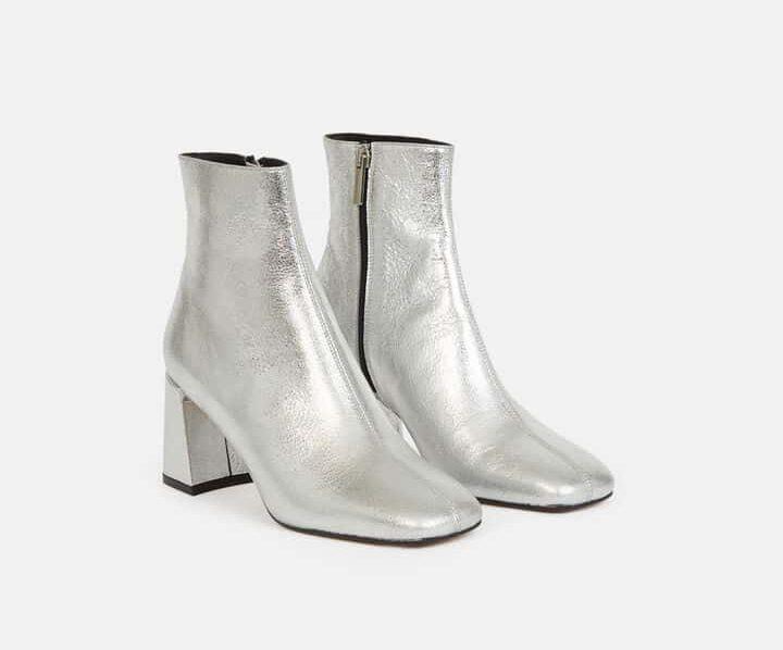 bottines femme argenté